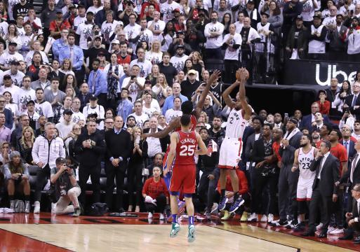 Los Raptors lograron evitar la prórroga en el Juego 7 gracias al tiro milagroso de Leonard. ww.philly.com