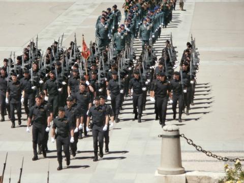 Desfile del destacamento de operaciones especiales
