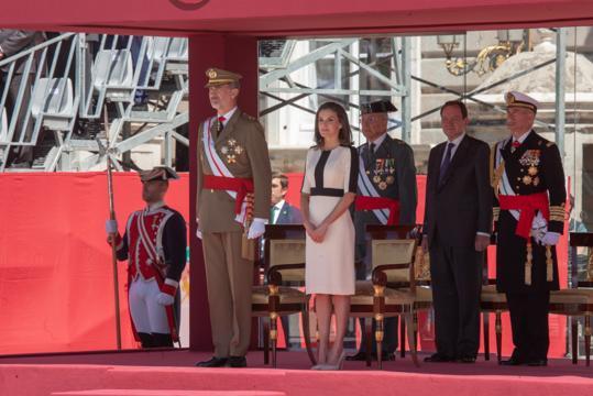 Los reyes en el palco durante la ceremonía