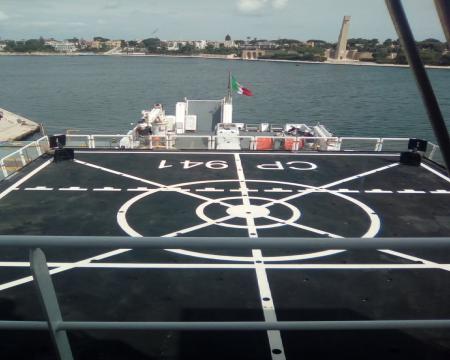 Nave Diciotti, ponte di atterraggio degli elicotteri