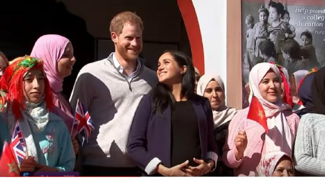 Royal baby watch: well-wishers await news on Harry and Meghan's baby. [Image source/5 News YouTube video]