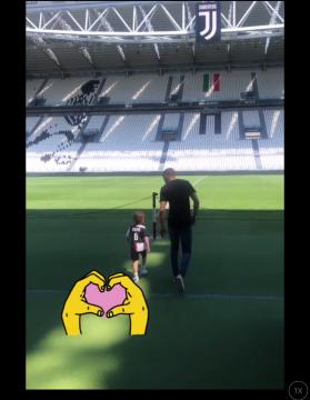 Juventus, Ramsey e famiglia all'Allianz Stadium