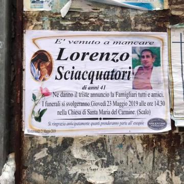 Monterotondo, funerali di Lorenzo Sciacquatori ucciso dalla figlia. Assenti Deborah e sua madre.