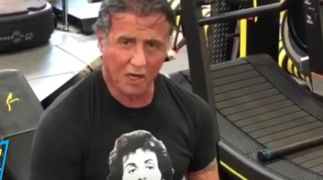 72-year-old Sylvester Stallone training for RAMBO 5: Last Blood (2019). [Image source/Test Center YouTube]