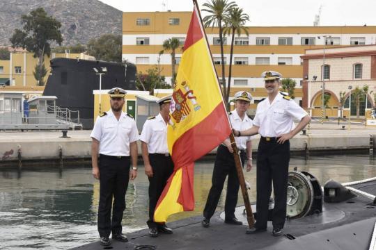 El Rey a bordo del Tramontana para presenciar el Eejercicio Cartago de rescate submarino