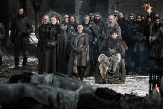 Gli Stark omaggiano i caduti di Grande Inverno