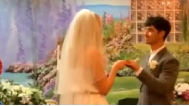 Jonas, Turner get married in Las Vegas. [Image source/Good Morning America YouTube video]