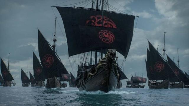 Le navi dei Targaryen navigano verso sud pronte alla guerra