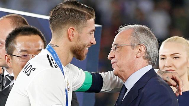 Bronca entre Sergio Ramos y Florentino Pérez