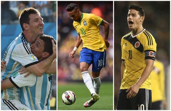 Messi, Di María, Neymar et James Rodriguez seront les grandes stars de Copa America 2019.