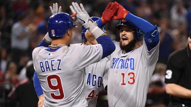 Báez sigue siendo el mejor bat de los Cubs. MLB.com