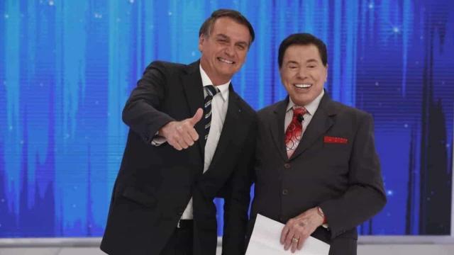 Jair Bolsonaro concedeu entrevista a Silvio Santos em programa televisivo (Crédito: Secom/Palácio do Planalto)