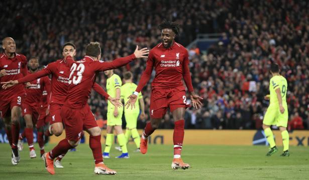 El Liverpool remonta para ir a la final y deja humillado al Barcelona. www.apnews.com