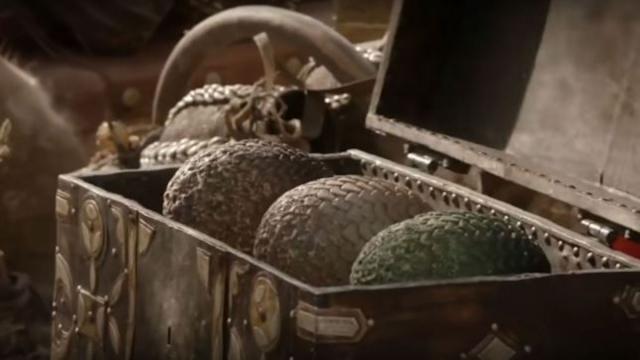 Le uova di Drago nel primo episodio di Game of Thrones