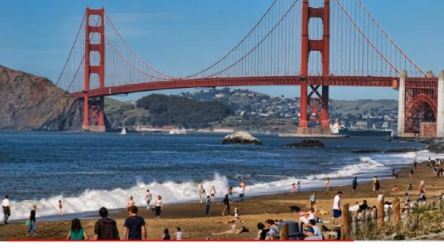 Baker Beach in San Francisco. [Image source/light2tube YouTube video]