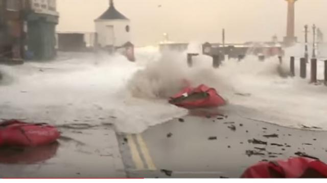 Homes evacuated as east coast braces for floods. [Image source/ITV News YouTube video]