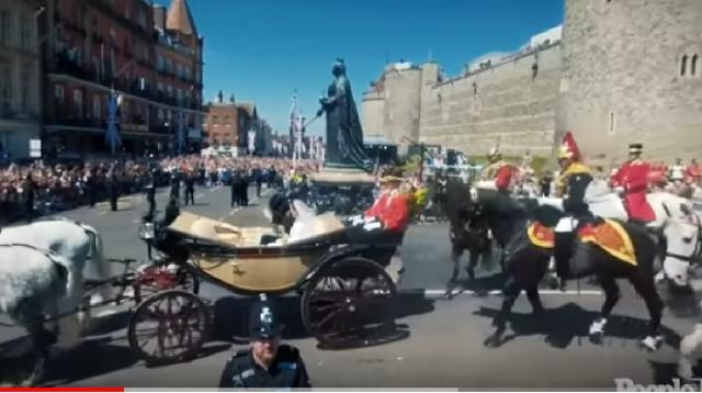 Windsor Castle gate. [Image source/People TV YouTube video]
