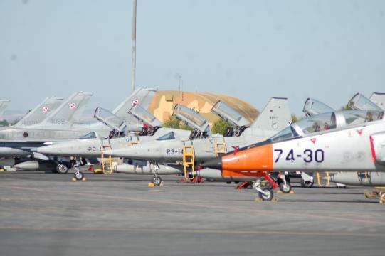 El TLP es un programa multinacional. En la imagen, aviones españoles y polacos.
