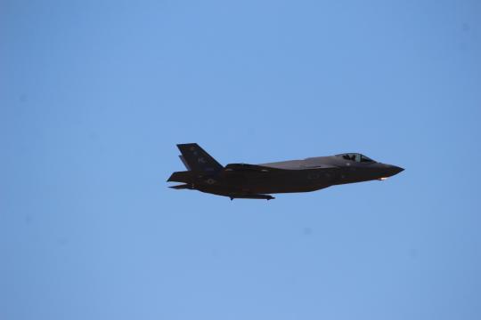 F-35 en vuelo en una de la misiones programadas en el TLP.