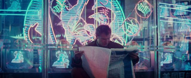 Harrison Ford in Blade Runner di Ridley Scott (1982)