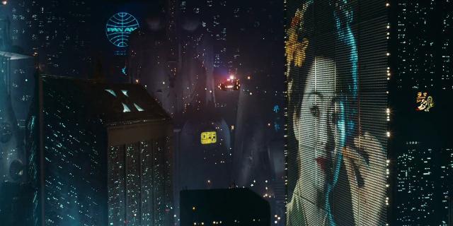 La pubblicità oleografica in Blade Runner (1982)