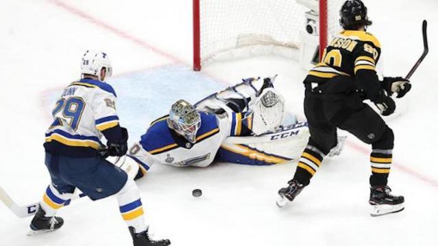 Binnington fue el MVP del juego 7 debido a paradas increíbles. NHL.com.