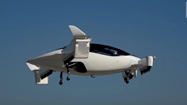 Lilium launches city travel electric air taxi. [Image source/Financial Times YouTube video]