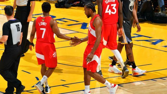 Los Raptors ganaron 3 juegos de las Finales en casa de los Warriors.www.nba.com
