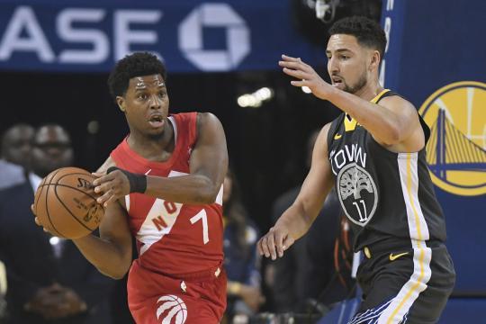 Lowry fue la bujía ofensiva de Toronto en la primera mitad. www.inquirer.net
