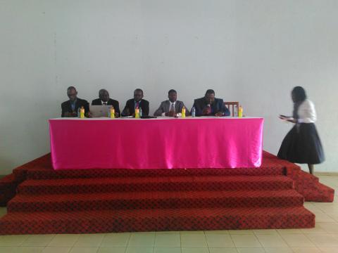 Assemblée de l'association sacré chœur de Marie de Mvolye © Odile Pahai