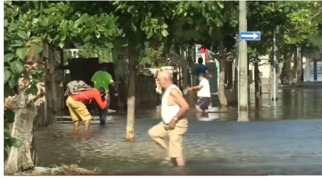 Havana floods as large waves crash over sea wall. [Image source/World News YouTube video]
