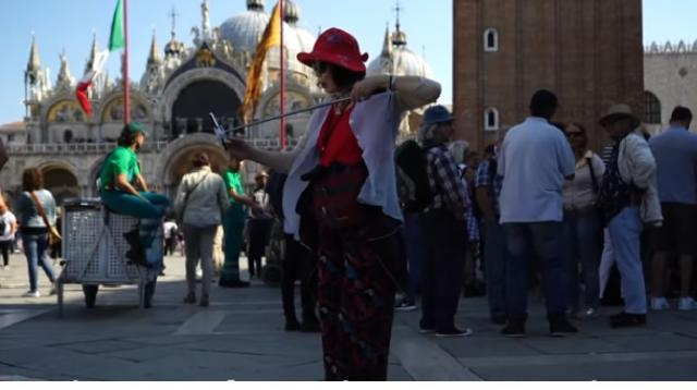 Is tourism killing Venice? [Image source/BBC News YouTube video]