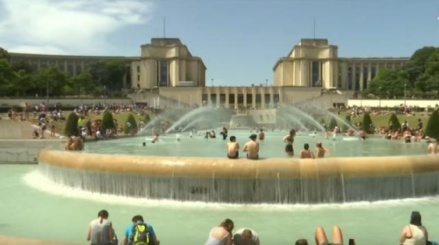 France reaches its highest temperature ever during Europe's heatwave. [Image source/The Sun YouTube video]