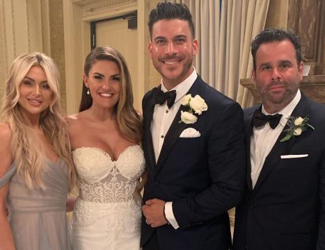 Randall Emmett and Lala Kent attend Jax Taylor and Brittany Cartwright's wedding. [Photo via Randall Emmett/Instagram]