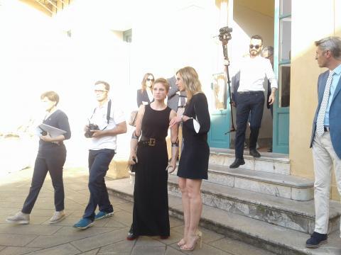 Bebe Vio e Valentina Vezzali a Villa Magnisi, a Palermo (foto di Sabrina Longi)