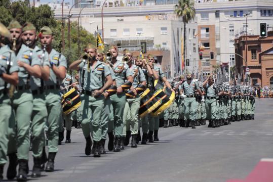 Como suele ser habitual, La Legión fue una de las unidades más aclamadas en el desfile.
