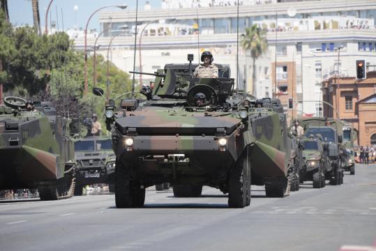 La Infantería de Marina desplegó lo más potente de su arsenal con los Piraña.