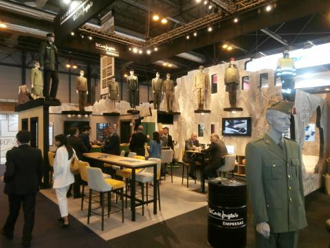 Todos los aspectos de la industria, incluidos los uniformes, estuvieron presentes en la Feria.