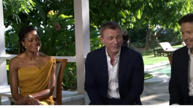 Cast of upcoming 'James Bond' movie on its significance. [Image source/Good Morning America YouTube video]