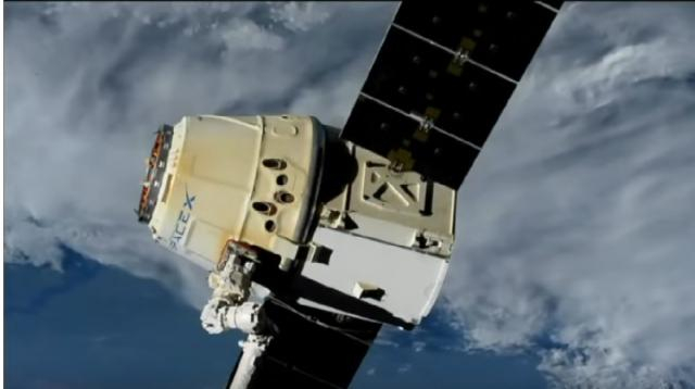 SpaceX CRS-17: Dragon unberthing and departure. [Image source/SciNews YouTube video]