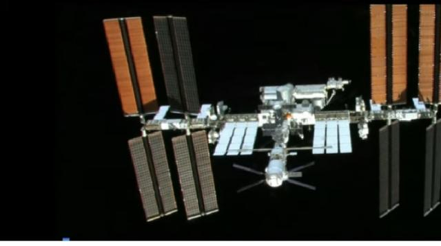 The International Space Station opens for commercial business. [Image source/NASA YouTube video]