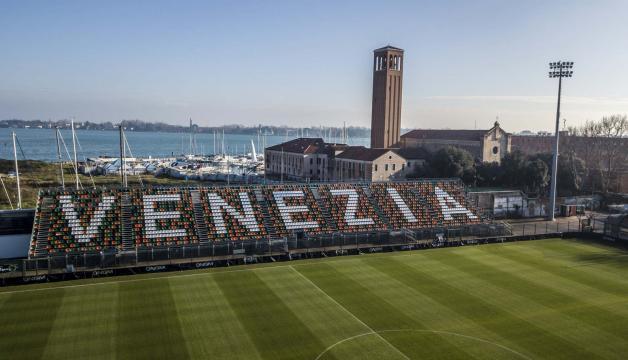 Lo Stadio Penzo di Venezia con il settore dedicato ai tifosi di casa