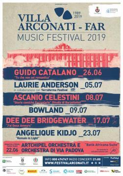 Locandina Festival Villa Arconati-Far 2019.