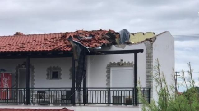 Six tourists killed in fierce storms in Greece. [Image source/AFP news agency YouTube video]