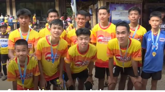 Thailand cave rescue: Boys mark one year anniversary. [Image source BBC News YouTube video]