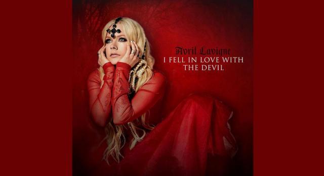 Avril Lavigne nella copertina del nuovo singolo 'I Fell in Love With The Devil'.