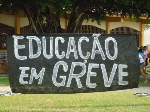 Professores em luta pela data-base Foto: (Aquivo Blasting News)