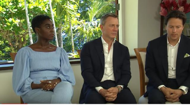 BOND 25 – Announcement interviews (Daniel Craig, Cary Fukunaga and Lashana Lynch) [Image source/JamesBondBrasilTV YouTube video]