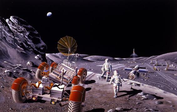 Il progetto di una futura base lunare permanente - Photo Muse.