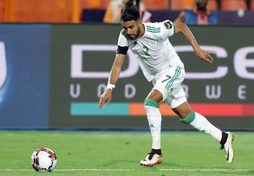 Mahrez fue la figura de la semifinal vs Nigeria. www.marca.com